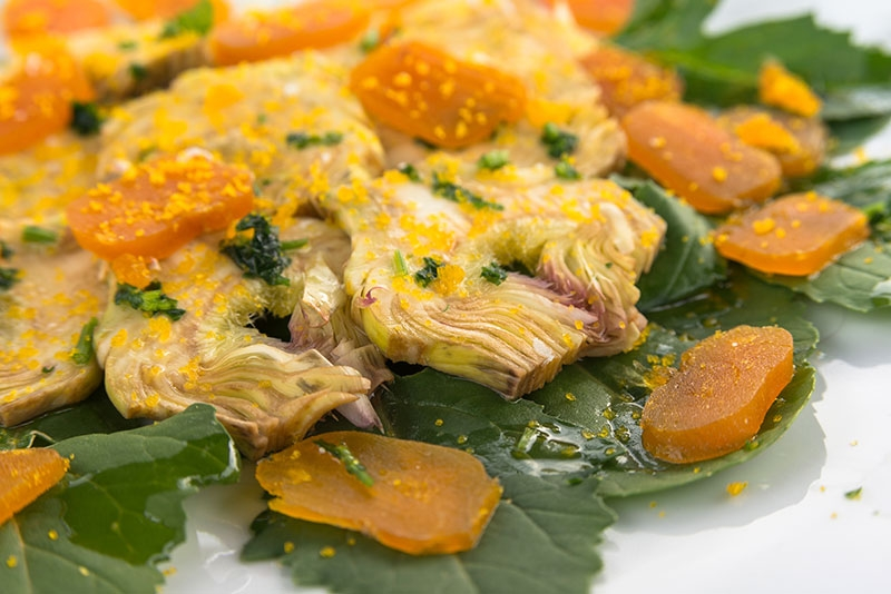A delicious starter with tipical bottarga is the best for the end of a great cycling day