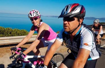 Guided tours Group cycling tour guided in the south coast of Sardinia