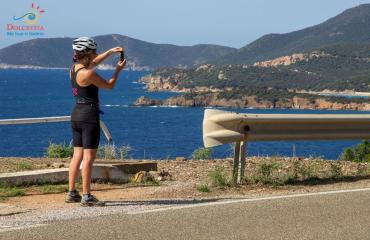 Taking photo in the south Sardinia route