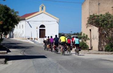 Bike trip Sardinia: reaching the fishing village of Marceddi