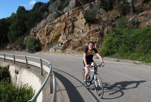 Cycling holiday Sardinia: lovely weather