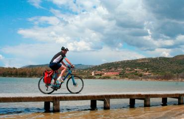Sardinia Cycling Cycling over the sea