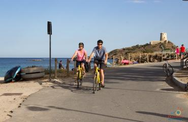 Sardinia Cycling Coming back from Nora archaeological site