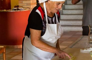 Sardinia Cycling Pasta making