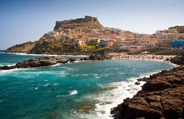 Road cycling Sardinia: Castelsardo village