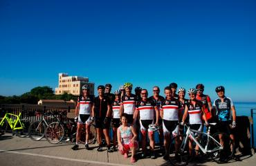 Group photo - road bike cyclist