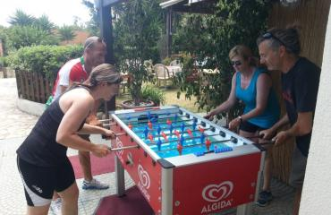 Mountain bike Sardinia: a table football match with the guides is guaranteed
