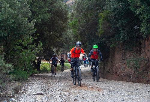 Mountain biking on forests and old mines of Sulcis in the west Sardinia