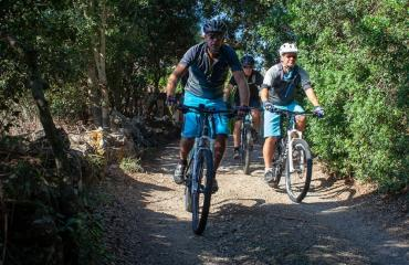 In MTB in the forests of southern Sardinia