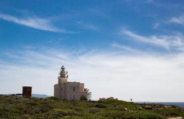 Break at the lighthouse in the sinis peninsula close to Oristano