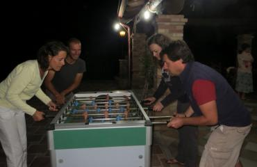 Cycling tour Sardinia: get ready for table football...